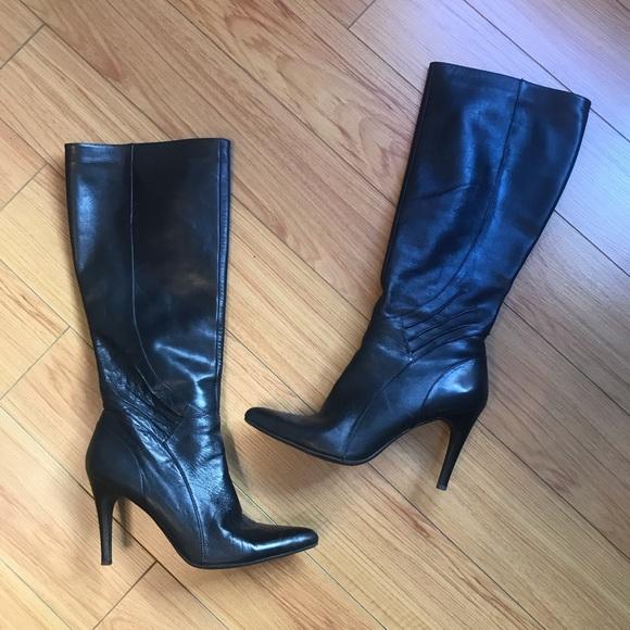 586ba7e2359d Nine West Shoes | Sale Black Heel Pointed Toe Boot | Poshmark